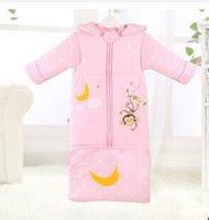Cheap Wholesale-Fashion long sleeping bag pajamas new autumn winter pajamas slumber sack for 6 months to 4 years old