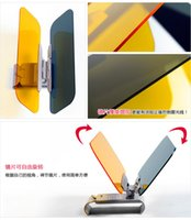 Wholesale HD Anti Glare Dazzling Goggle Day Car Sunshade Night Vision Driving Mirror Sun Visors dhl