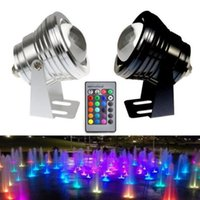 Wholesale 10W RGB Floodlight Light Underwater LED Flood Light Swimming Pond Pool Spot Lamp Outdoor Waterproof Lighting with Remote Control DC V