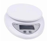 5000g 5kg x 1g escala del hogar digital electrónica de la cocina Weigthing alimentos de la dieta balanzas