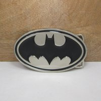 western belt wholesale - Superhero batman black bats logo silver Zinc alloy belt buckle The Avengers marvel Texas Fashion Mens Western Turbo Nos Tunning