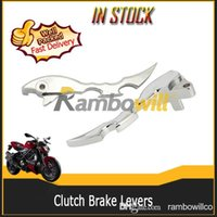 Wholesale 2X Motorcycle Clutch Brake Levers Chrome CNC Fit For Suzuki Boulevard M109R