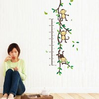 Wholesale Hot sale Monkey Height ruler DIY Removable Art Vinyl Quote Wall Sticker Decal Mural Home decoration