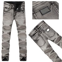 acid wash clothing - New fashion Classic Mid Straight men international famous brand jeans mens pants trousers high quality Clothing