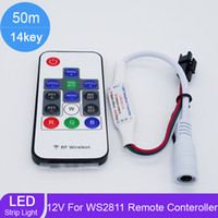 Wholesale 14key RGB mini controller remote kinds of changes RGB color digital RF wireless for led strip WS2811 WS2812 WS2812B