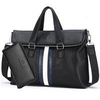 Wholesale mens Vintage Business Briefcase Anti theft Alarm Aktentasche PU Leader Casual Men Bag Laptop Tote Bags Maletin Hombre