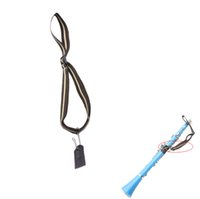 Wholesale Professioal Woodwind Instrument Accessories Light weight Adjustable Clarinet Neck Strap Cotton with Metal Hook Leather Piece