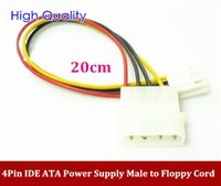 ata power supply - High Quality Pin IDE ATA Power Supply Male to Floppy Cable mm pin to pin power cable order lt no track