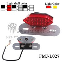 Wholesale FMJ L027 Motorcycle LED Rear brake Lightsrear stop light With the License Plate Lamp and the Turn Signal Function