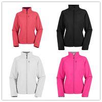 Wholesale HOT SALE Women s Apex Bionic Jackets Sport Outdoor Fleece SoftShell hiking camping climbing Zipper black jacket