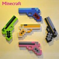 Cheap New Minecraft Toys Minecraft Foam Guns EVA Toys Minecraft Green Gold Pink Black Pistol,Diamond Gun Toy for Kids Outdoor Game Fun