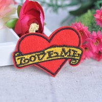 Wholesale Love shaped letter fashion fabric exquisite embroidery applique patch repair applique tape adhesive handmade