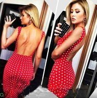 Cheap Popular Series!!!Free shipping 2015 Hot summer dress Wave point back sexy tight evening dress