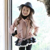 100% leather jackets - Babies Girls Pu Leather Jackets Stylish Zipper Design Outwears Princess Western Fashion Candy Color Fall Winter Warm Clothing