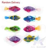 pet fish - LED Novel Robofish Electric Toy Robo Fish Emulational Robot Fish Electronic pets