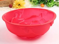 Wholesale Large rosettes cake into the oven temperature silicone bakeware can family silicone baking molds