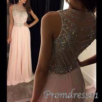 Cheap Pink Backless Prom Dresses Best Modest Evening Dresses