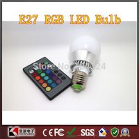 Wholesale 10W E27 RGB LED Bulb Color Change v with Remote control