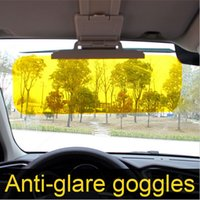 Wholesale Car Sunshade Anti Glare Anti Dazzling Goggle for Driver Day Night Car Clear View HD Vision Driving Sun Visor