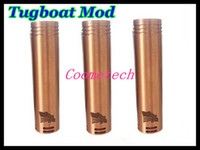 switch - Tugboat mod e cigarette battery body black white copper tugboat mechanical mods with magnetic switch in gift box DHL