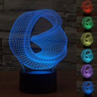 abstract table lamp - 3D Led Color Changing Lamps Christmas Gifts Light Cubes Night Lights Colorful Touch Switch Table Lamp Abstract Pattern