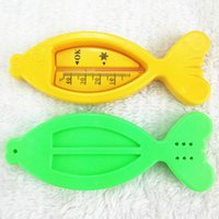 Wholesale Floating Fish Lovely Baby Water Thermometer Plastic Baby Bath Toy Tub Water Sensor Thermometer