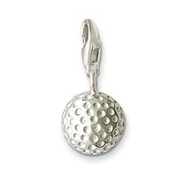 ball golf - New Design Silver charm Golf Ball Charm Fashion Charm pendant fit for bracelet and necklace silver jewelry women