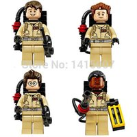 Wholesale Super heroes new arrival limited Ghost buster minifigures Busters building block toys figures compatible with leg0
