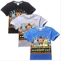 night shirts - 2015 new Five Nights at Freddys children T shirts boys tees tops kids t shirts child clothes short sleeve clothing