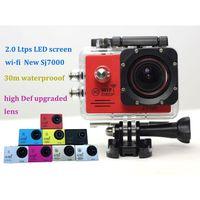 Wholesale 2015 waterproof Gopro Action Camera SJ7000 Wifi LTPS LED Sport extreme mini camera recorder marine diving P HD DV