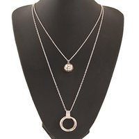 asian style clothing - 2015 Fashion New Style Double Layer Necklace Pendant Long Clothes Necklace Jewelry For Women Fashion Jewelry Necklace