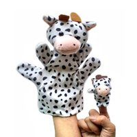 animal stories cow - Chinese Zodiac Cow pc Baby Plush Toy Story Talking Props Stuffed Dolls Set of Hand Puppets Finger Puppets Animals