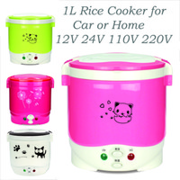Wholesale 1L Mini Rice Cooker with CE CB for road trip camping as home Appliance non stick coating inner pot of to different countries