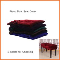 Wholesale For Piano Dual Seat Bench Piano Stool Chair Bench Cover Pleuche Decorated with Macrame Universal Colors for Choosing