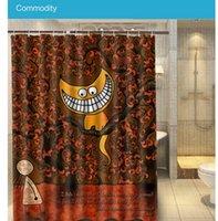 alice bath - 2016 Bathroom Docor Alice in Wonderland Moon Cat Shower Curtain cm Waterproof Polyester Bath Curtain