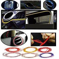interior trim - 2015 New M Colors Flexible Trim Fashion Car Interior Exterior Moulding Strip Decorative Line order lt no track