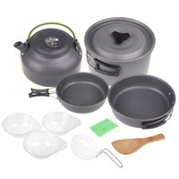 aluminum oxide ceramics - Oxide Outdoor Camping Aluminum Pot Set Hiking Backpacking Cookout Picnic Cookware Teapot Coffee Kettle Set for People