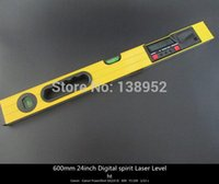 beam spirits - 600mm inch Digital spirit Laser Level mm LCD display digital level with Laser Beam and magnet base