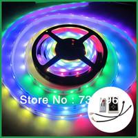 Wholesale 16Ft M RGB Dream Color IC LED Strip Light Waterproof LED IP67 Tube Magic Color V Change RF Remote Controller