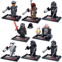 Wholesale 8pcs Star Wars The Force Awakens Moive Star War Kid Baby Toy Mini Figure Building Blocks Sets Model Toys Minifigures Brick