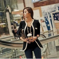Wholesale Slim Hiddern Breasted Business V Neck Suits Formal Office Style Coat Spring Autumn Coat Womens Jackets And Blazers For Women