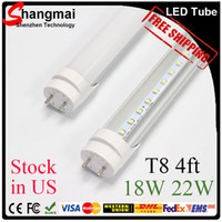 led white high bright - CE ROHS FCC ft mm T8 Led Tube Light High Super Bright W W W Warm Cold White Led Fluorescent Bulbs AC110 V