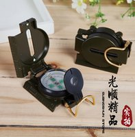 Wholesale New Superior Quality Metal pocket compass Mini Military Camping Hiking Marching Lensatic Compass Magnifier