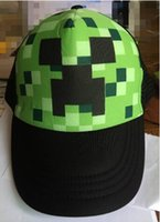 lorries - Minecraft Creeper Mesh Caps Cartoon Trucker Caps Lorry Caps Fashion caps Men Adjustbale Hats colors Cheap