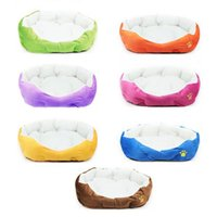 Wholesale 2014 New Colorful Small Pet Dog Puppy Cat Soft Fleece Cozy Warm Nest Bed House Kennel Mat Pets Cushion Products