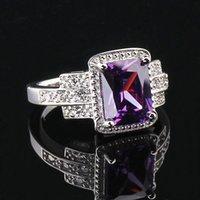 Cheap 2015 Fashion wedding rings Zircon Jewelry Crystal Gemstone women's Rings Sterling Silver CZ Topaz Ring jewelry new SKU size 789
