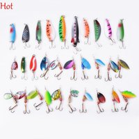 Wholesale New Top Hot Fishing Lure Mix Colors Hook Depth Stainless Metal Spoon Lures Hard Baits Spinner Crankbait Assort Fishing Tackle SV009974