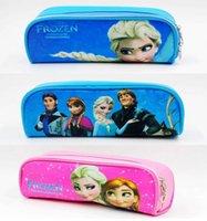 Cheap Frozen princess Elsa Pencil case Bag Girl's Cartoon Fashion Pencil Bag or cosmetic bag