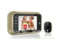 Wholesale Golden quot Monitor Door Doorbell Pee phole Viewer Camera Photo Video DVR degrees Russian Menu Support