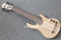 Wholesale MiNi string ukulele electric bass natural color neck thru style